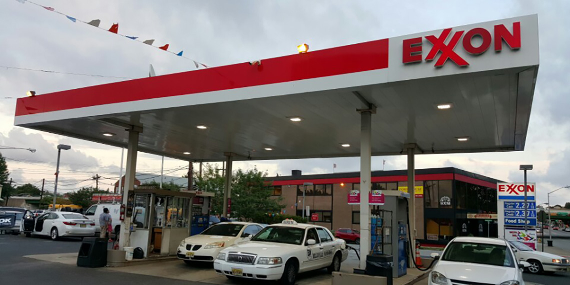Exxon Gas Station in Bloomfield(CSK Brand Canopy 75 watt) : canopy for gas station - memphite.com