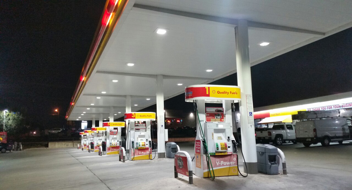 Shell Gas Station In San Antonio Csk Canopy 100 Watt